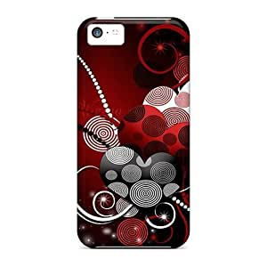meilz aiaiHot XJq12540tskr Cases Covers Protector For Iphone 5c- Hearts Mtmeilz aiai