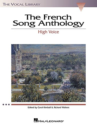 French Song Anthology The Vocal Library High Voice