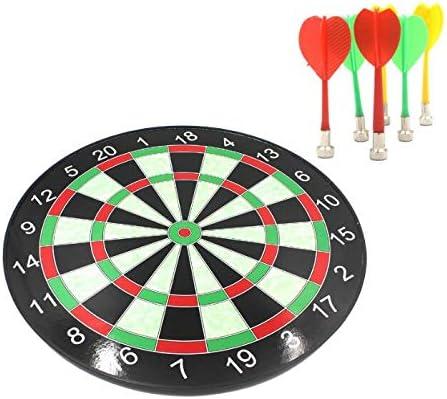 YYCES Dardos Juego de Mesa 12/15/17 Pulgadas Profesional Juego de Tablero de Dardos magnético Seguro para Dardos de Aguja Adecuado para Juegos de Interior Padre e Hijo 15 Pulgadas: Amazon.es: Hogar