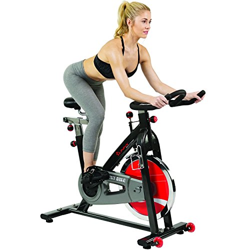 Sunny Health & Fitness Belt Drive Indoor Cycling Bike, Grey by Sunny Health & Fitness