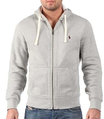 Ralph Lauren - Sudadera con capucha para hombre - Interior de forro polar - Gris jaspeado: Amazon.es: Ropa y accesorios