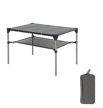 Tentock - Mesa Plegable de aleación de Aluminio para Barbacoa, Pesca, Camping, Picnic