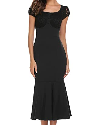 006b54166b ACEVOG Women s Official Retro Cap Sleeve Fitted Cocktail Pencil Dress