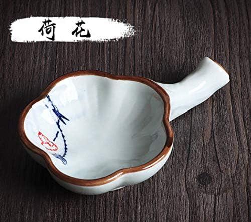 MEGREZ Multifunctional Inkwell Dish Porcelain Handmade Ink Well InkstoneBrush Holder for Chinese Japanese Calligraphy Painting Practice Lotus Pattern
