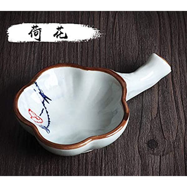 Woonsoon Multifunctional Inkwell Dish Porcelain Handmade Ink Well Inkstone with Brush Holder for Chinese Japanese Calligraphy Painting Practice