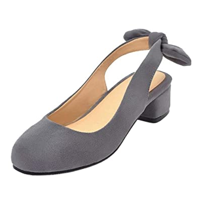 314cac03c1d2c2 Coolcept Femmes Mode Bout Fermé Chaussures De Bureau Talon Bas Escarpins  Slingback Bloc Talon Pumps De