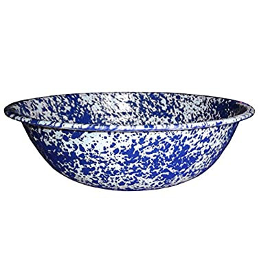 Enamelware Timpano Basin - Blue Marble