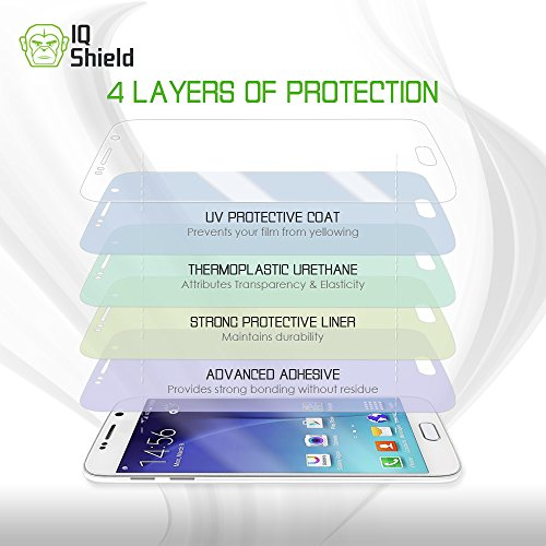 Galaxy S8 Plus Screen Protector, IQ Shield LiQuidSkin Full Body Skin + Full Coverage Screen Protector for Galaxy S8 Plus (S8+) HD Clear Anti-Bubble Film