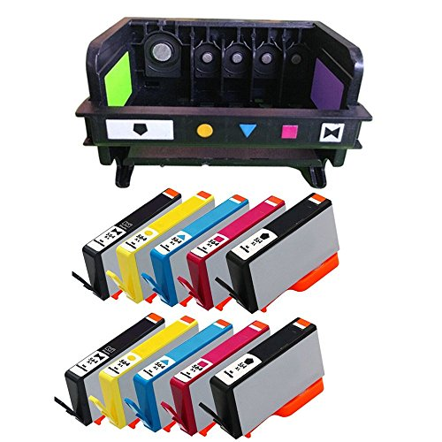 RIGHTINK 10Pack Ink Cartridge for HP564XL With 5 Slot 564XL printer head for HP Photosmart Plus B210 Premium C309 eStation C510 Series by RIGHTINK