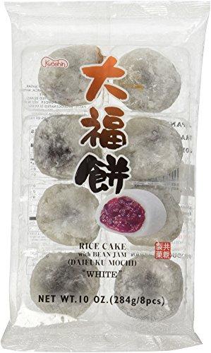 Japanese White Rice Cake Daifuku Mochi 8 Pcs (Mini Green Tea Mochi)