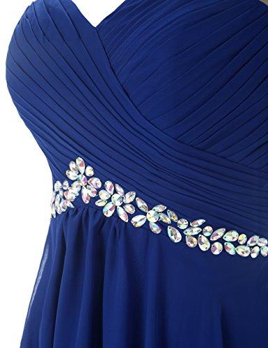Dresstells longueur de robe genou A Corail mousseline de soire en cocktail ligne courte 6qv6xwBEtr
