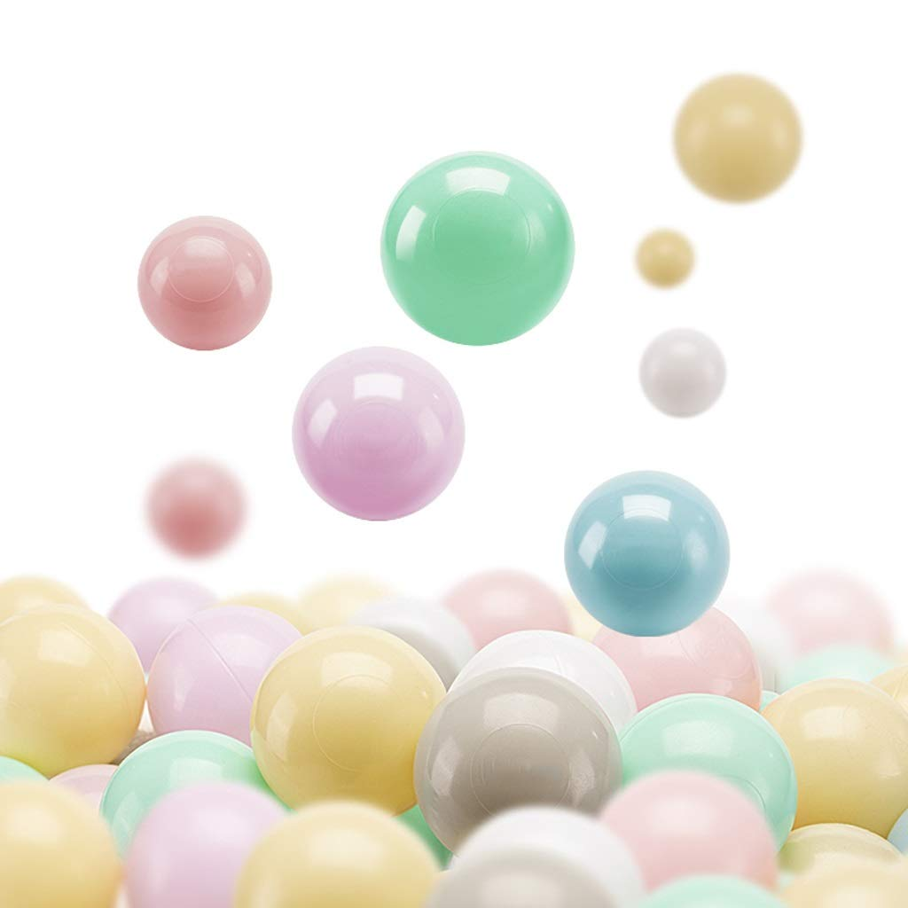 LIUFS-Ocean Ball Children's Fence Bouncy Ball Toy Ball Color Ball Plastic Soft Ball Room Decoration Playground Ocean Ball (Color : C, Size : 100)