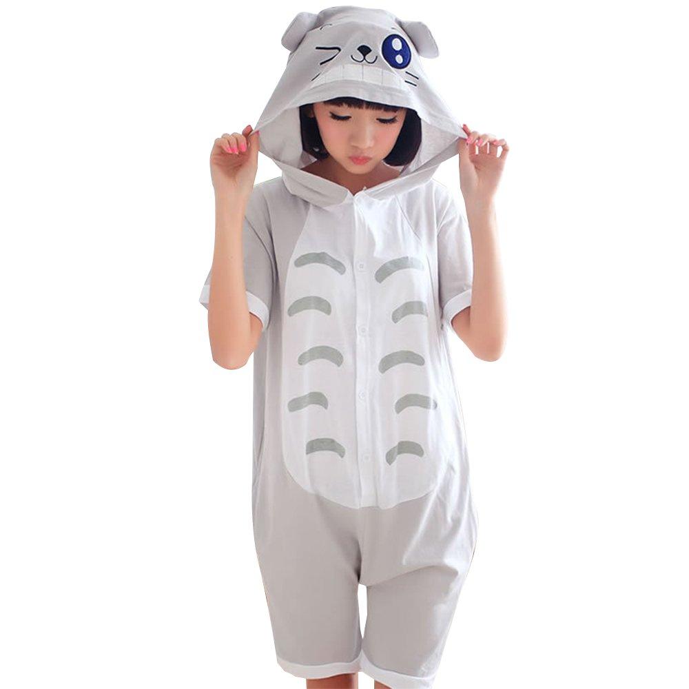 KINOMOTO Jumpsuit Cosplay Costume Anime Onesie for Men Women Short Sleeves Pajamas (M, Tonari No Totoro) by KINOMOTO