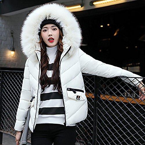 abajo Escudo de deletrean Internet chaqueta ocio abrigo Blanco engrosamiento mujeres abrigo Las delgado color invierno HqHAPwr