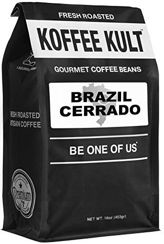 Koffee Kult Brazil Whole Bean Coffee Artisan Roasted (32oz Whole Bean)