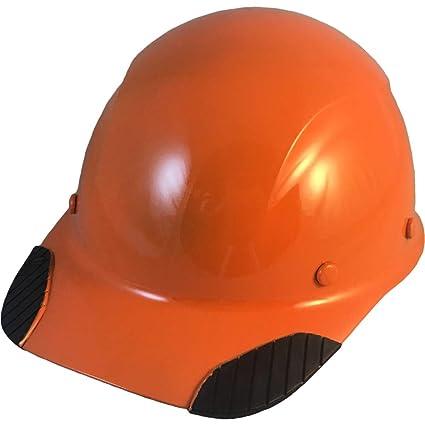 DAX Actual Carbon Fiber Cap Style Hard Hat - Hi Viz Orange