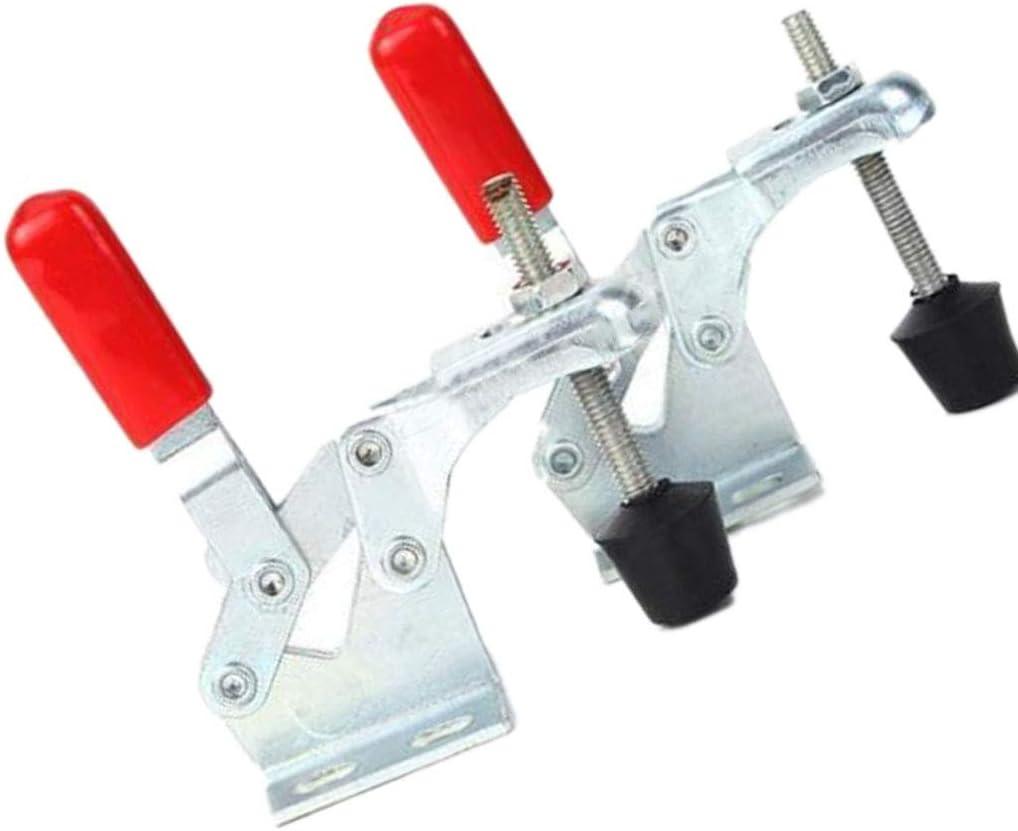 Morza 2 St/ück 30KG Vertikal Toggle Horizontal Clamp Stahl Schnellspanner Hand Clip-Befestigung Werkzeuge GH-13009
