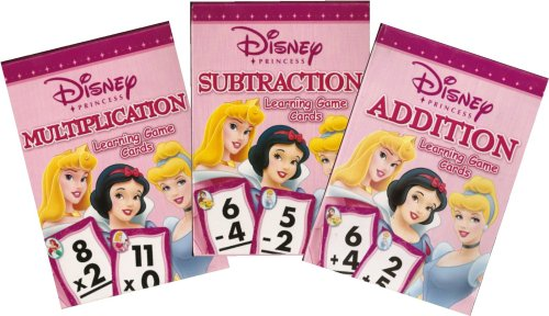 Disney Princess Math Learning Game Cards  Addition, Subtract