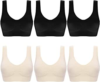 aoqininu Womens Sports Bra Fitness Racerback Workout Yoga Bras