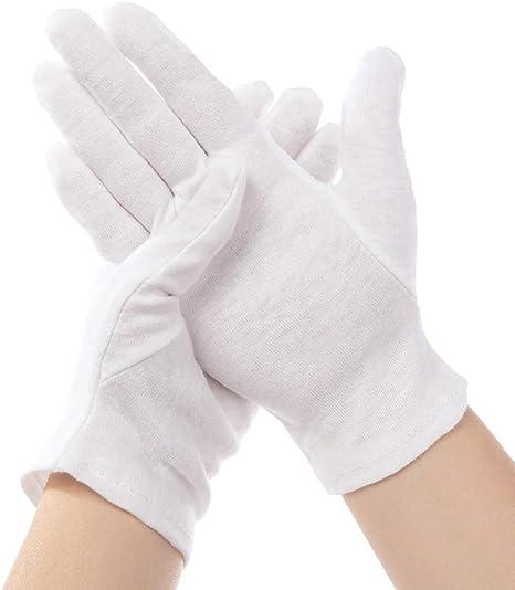 12 pares de guantes blancos para niños, guantes hidratantes de mano de algodón puro para policía formal esmoquin honor Guard y ocasiones especiales, multi-size: Amazon.es: Deportes y aire libre