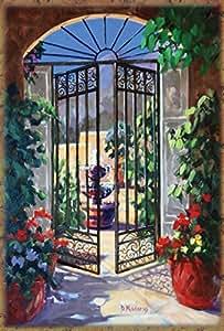 Toland Home Garden Elegant Gate 28 x 40-Inch Decorative USA-Produced House Flag