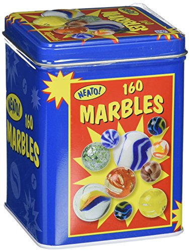 Toysmith Marbles in a Tin Box Antique Traditional Tumbler Holder