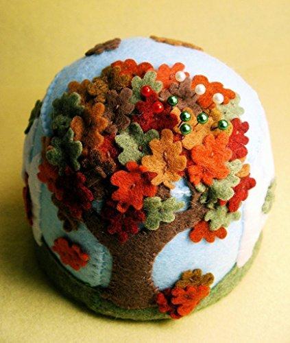 Handmade Falling Leaves Pincushion - Custom Made to Order ()