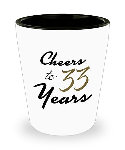 33rd Birthday Shot Glass