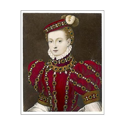 10x8 Print of Mary, Queen of Scots in a red costume (572318) for $<!--$14.99-->