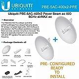 Ubiquiti 2-PACK PRE-CONFI PowerBeam AC 25dBi 5ghz 400mm PBE-5AC-400 802.11AC Airmax