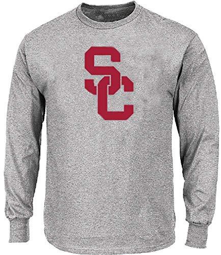 289c apparel USC Trojans SC Interlock Athletic Grey Long Sleeve T Shirt (XX-Large)