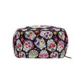 ALAZA Day Of The Dead Sugar Skull Cosmetic Bag