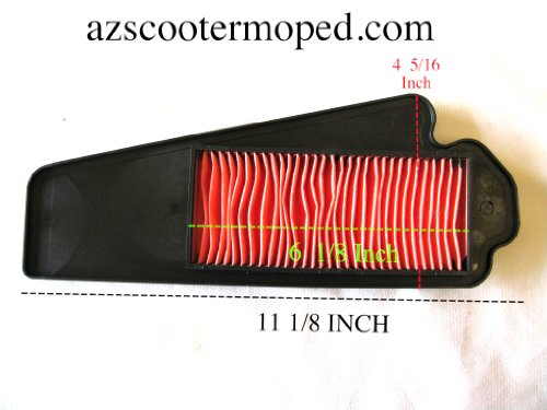 Gy6 Gas Scooter Moped Air Cleaner Filter 49 50 cc 50cc LONG CASE 139QMB PLASTIC