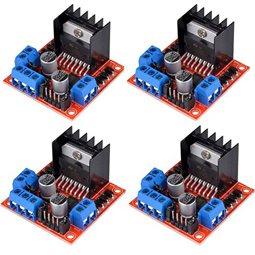 HiLetgo 4pcs L298N Motor Driver Controller Board Module Stepper Motor DC Dual H-Bridge for Arduino Smart Car Power UNO MEGA R3 Mega2560