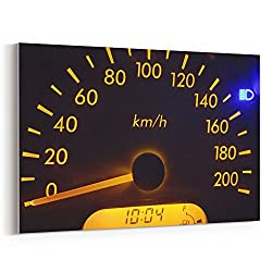 Westlake Art Gauge Dashboard - 12x18 Canvas Print Wall Art - Canvas Stretched Gallery Wrap Modern Picture Photography Artwork - Ready to Hang 12x18 Inch (92B0-24ED9)