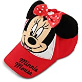 Disney Toddler Girls Minnie Mouse Bowtique Cotton Baseball Cap, Red, Age 2-4