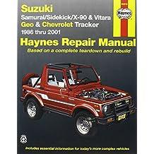 Suzuki Samurai/Sidekick/X-90 & Geo & Chevrolet Tracker: 1986 thru 2001: All 4-cylinder models