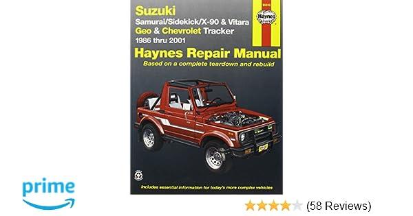 suzuki samurai sidekick x90 and vitara geo chevrolet tracker rh amazon com 2000 chevy tracker repair manual pdf 2005 Chevy Equinox Repair Manual
