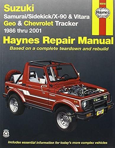 suzuki samurai sidekick x90 and vitara geo chevrolet tracker rh amazon com 2002 chevy tracker repair manual pdf 2005 Chevy Equinox Repair Manual