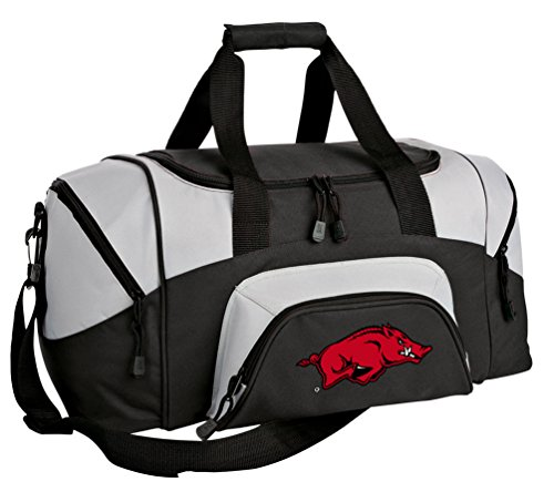 Small Arkansas Razorbacks Duffel Bag University of Arkansas Gym Bags or Suitcase ()