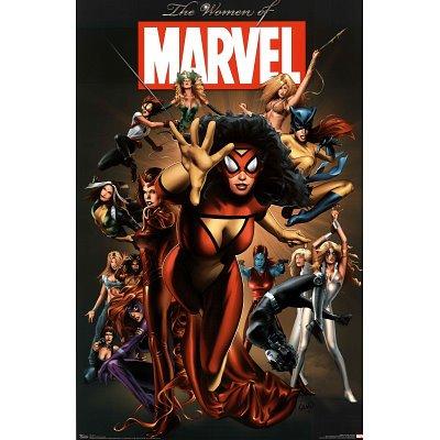 Marvel Heroes Women of Marvel Art Poster Print