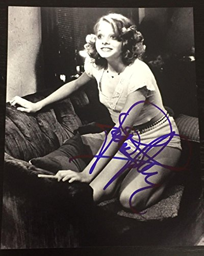 JODIE FOSTER SIGNED AUTOGRAPH NEW CLASSIC IMAGE TAXI DRIVER PROMO 8x10 PHOTO COA