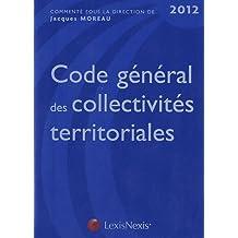 CODE GÉNÉRAL DES COLLECTIVITÉS TERRITORIALES 2012