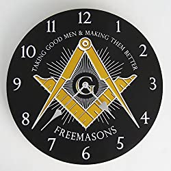 TG,LLC Freemason Brothers Masonic Wall Clock