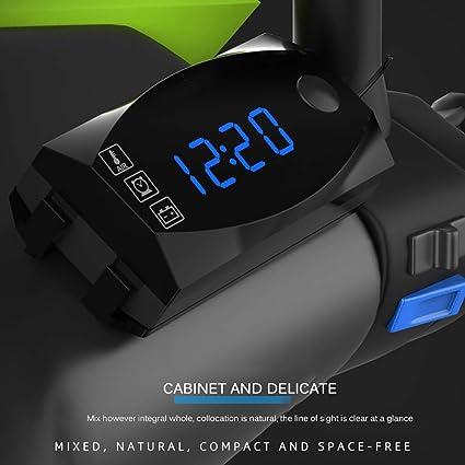 blanc Horloge de voiture automobile num/érique horloge tableau de bord de voiture petite ronde horloge analogique /à quartz horloge stick-on voiture ornements accessoires
