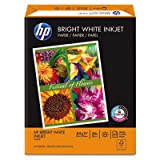 Bright White Inkjet Paper, 97 Brightness, 24lb, 8-1/2 x 11, 500 Sheets/Ream, Total 5 RM