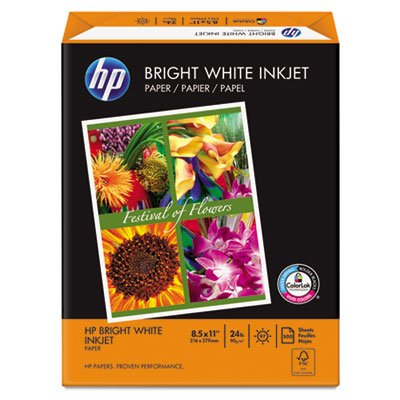 Bright White Inkjet Paper, 97 Brightness, 24lb, 8-1/2 x 11, 500 Sheets/Ream, Total 5 RM by HP (Image #3)