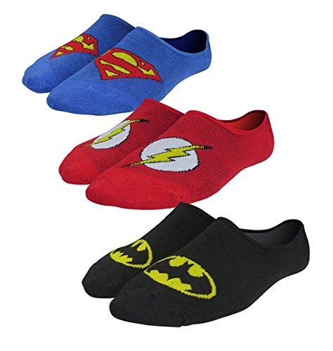 Justice League Logos Ankle Socks 3-Pack
