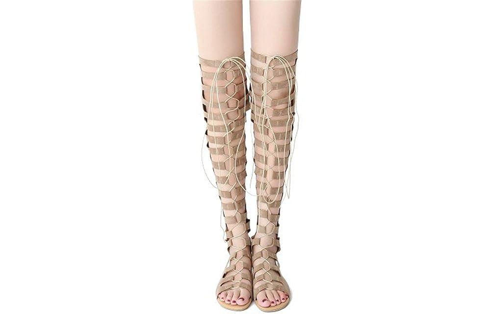 Exing Damenschuhe PU Herbst Club Schuhe Mode Stiefel Komfort Stiefel Wanderschuhe Stiletto Peep Toe Zipper für Party & Abend