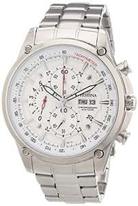 Festina Sport F6817/1 - Reloj cronógrafo de cuarzo para hombre, correa de acero inoxidable color plateado (cronómetro, agujas luminiscentes)